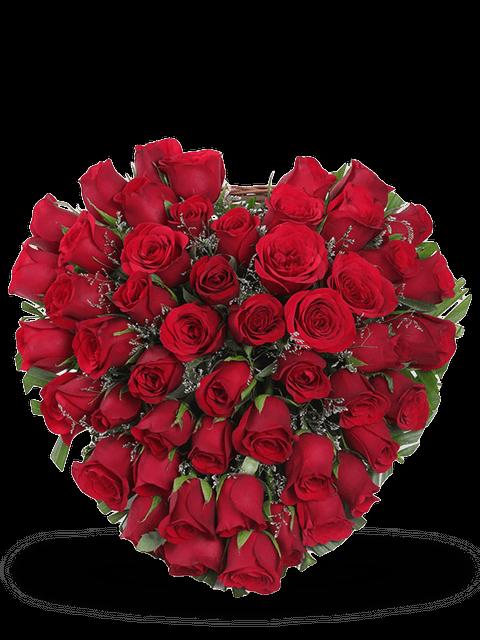 Cuore di 50 rose rosse